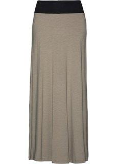 Трикотажная юбка (светло-оливковый однотонный) Bonprix