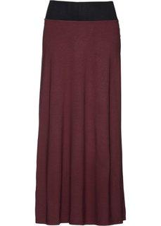 Трикотажная юбка (темно-бордовый однотонный) Bonprix
