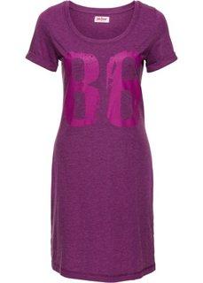 Трикотажное платье (фиолетовый меланж) Bonprix