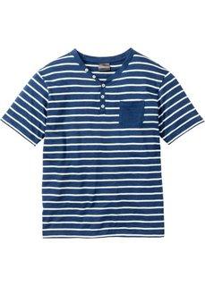 Полосатая футболка Regular Fit (темно-синий меланж/цвет белой шерсти в полоску) Bonprix