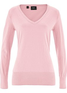 Пуловер тонкой вязки (нежно-розовый) Bonprix