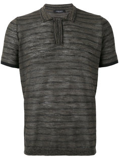 футболка-поло в полоску Roberto Collina