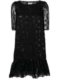 платье миди с принтом звезд Saint Laurent
