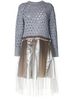 расклешенное трикотажное платье  Kolor