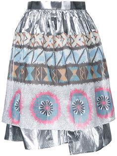 юбка с отделкой металлик Kolor