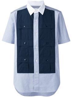 рубашка с контрастными панелями Ganryu Comme Des Garcons