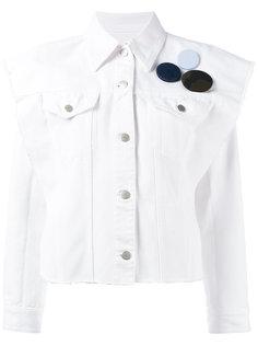 куртка-рубашка с нашивкой  Mm6 Maison Margiela