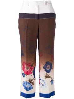 брюки с цветочным принтом Salvatore Ferragamo