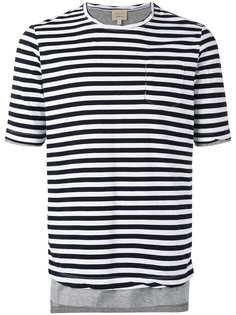 футболка в полоску  Wooster + Lardini