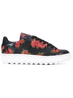 кроссовки с цветочным принтом Coach