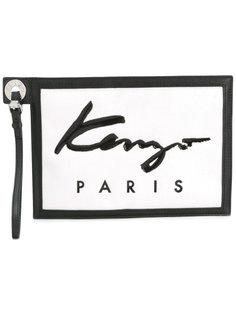 клатч с маленьким логотипом Kenzo