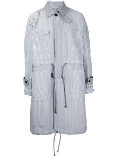 пальто в полоску Hickory Sacai