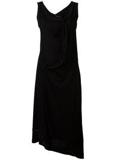 многослойное платье миди Yohji Yamamoto