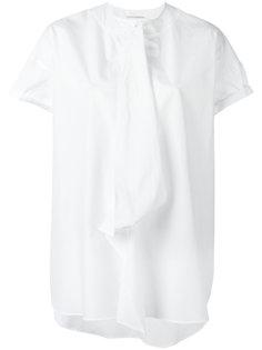 полупрозрачная футболка с драпировкой Yohji Yamamoto