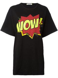 футболка с принтом wow  Iceberg