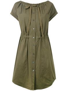 платье-рубашка с присборенными деталями Theory