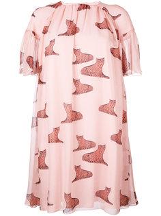 платье с леопардами Giamba