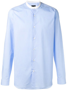 рубашка с воротником в китайском стиле  Z Zegna