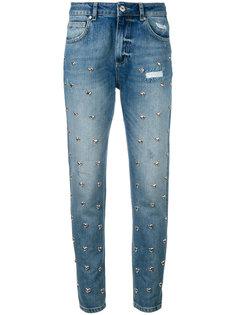 джинсы с заклепками в виде сердец Zoe Karssen
