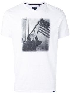 футболка с принтом Woolrich