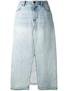 джинсовая юбка с асимметричным швом Alexander Wang