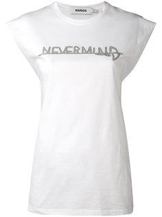 футболка с принтом Nevermind Marios