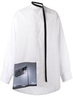 рубашка с квадратным принтом Raf Simons
