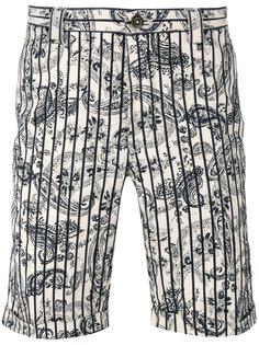 шорты в полоску с принтом пейсли  Incotex