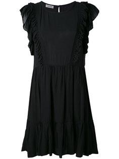 расклешенное платье миди с оборкой  Zadig & Voltaire