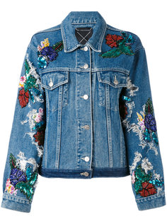 джинсовая куртка с вышивками Night Market