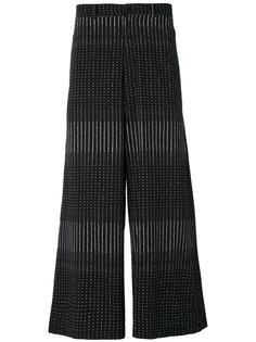 широкие брюки с полосатым принтом Damir Doma