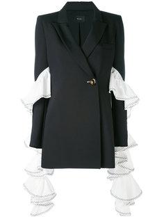 пиджак с драпированными рюшами на рукавах Ellery