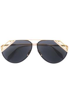 солнцезащитные очки с вырезными деталями Alexander McQueen