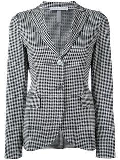 пиджак с узором в ломаную клетку Harris Wharf London