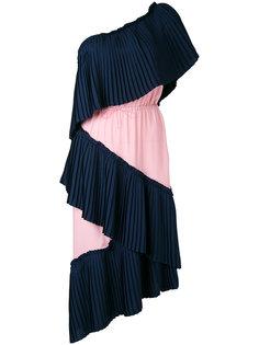 плиссированное платье на одно плечо Marco De Vincenzo