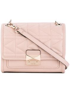 стеганая сумка на плечо с клапаном  Karl Lagerfeld