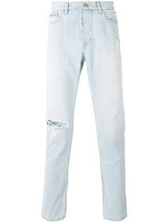 состаренные джинсы слим  Calvin Klein Jeans