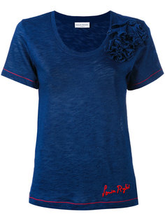 футболка с цветочным элементом Sonia Rykiel
