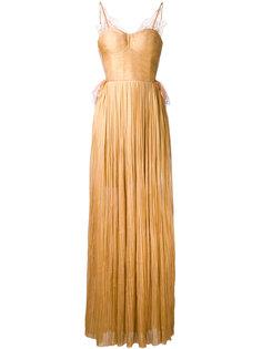 кружевное платье плиссе  Maria Lucia Hohan