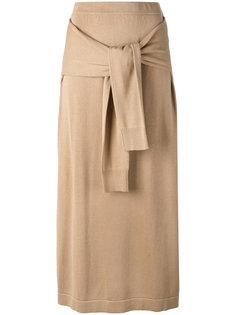 трикотажный юбка с завязками  Joseph