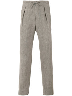 брюки с поясом на завязках Ermenegildo Zegna