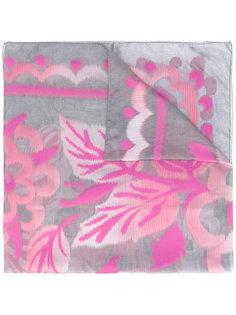 шарф с лиственным узором Armani Collezioni