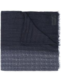 шарф с бахромой и мелким узором Armani Collezioni