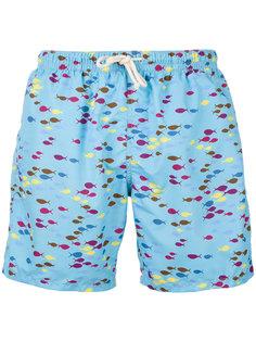 шорты для плавания с принтом рыб Drumohr