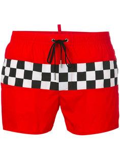 шорты для плавания с панелью в шашечку Dsquared2