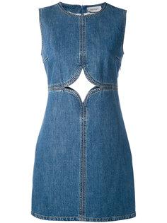 джинсовое платье с вырезной деталью Courrèges