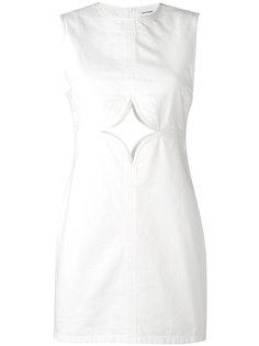 платье с вырезной деталью Courrèges