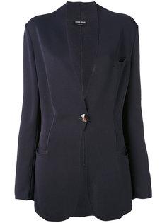 пиджак с резным подолом Giorgio Armani Vintage