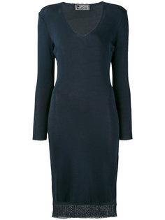 трикотажное платье Versace Vintage