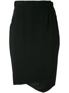 юбка с асимметричным подолом 1980 года выпуска Gianfranco Ferre Vintage